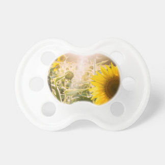 Sonniges Sonnenblume-Feld Baby Schnuller