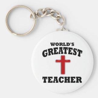 Sonntags-Schullehrer Standard Runder Schlüsselanhänger