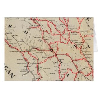 Sonoma, Marin, See und Napa Landkreise Karte