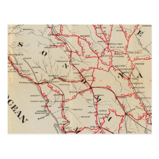Sonoma, Marin, See und Napa Landkreise Postkarte