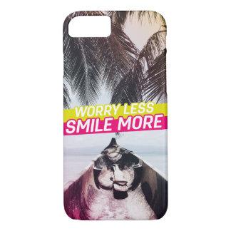 Sorge weniger, lächeln mehr iPhone 8/7 hülle