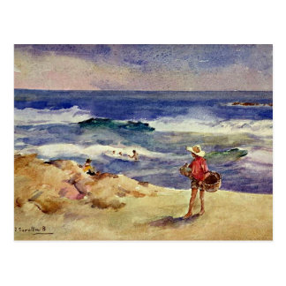 Sorolla - Junge auf dem Sand Postkarte