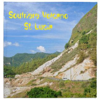 Soufriere Vulkan in St Lucia Serviette