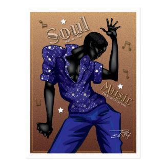 Soul-Musik Postkarte
