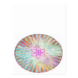 Soul-Power: Sonnenenergie-künstlerischer Entwurf Postkarte