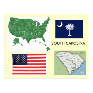 South Carolina, USA Postkarte