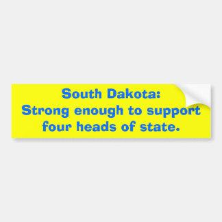 South Dakota: Stark genug zum supportfour geht… Autoaufkleber