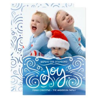 Soviel Freude-WeihnachtsFoto-Karten-Blau 2 Karte