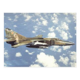 Sowjetischer Züchtiger MiG-23 Postkarte