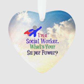 Sozialarbeiter-Superheld Ornament