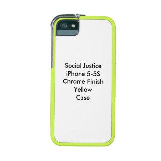 Soziale Gerechtigkeit iPhone 5-5S Chrom-Endgelb iPhone 5 Hüllen