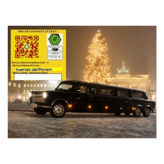 Sozialist. Grüße für Limousinenbesitzer Postkarte