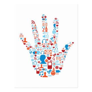 Sozialnetz-Hand Postkarte