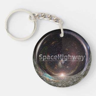 SpaceHighway doppeltes Verzerrung-keychain Dreieck Schlüsselanhänger