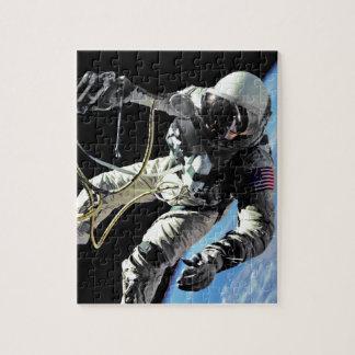 Spacewalk-Foto der NASAs erste amerikanisches Puzzle