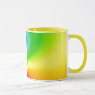 Spacey Nebelfleck-Regenbogen Tasse
