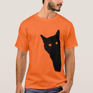 Spähen Katzen-niedlichen lustigen T-Shirt