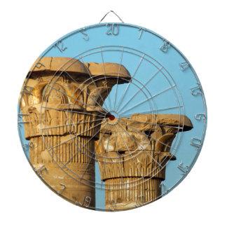 Spalten-Kapitalien, Medinet Habu, Ägypten Dartscheibe