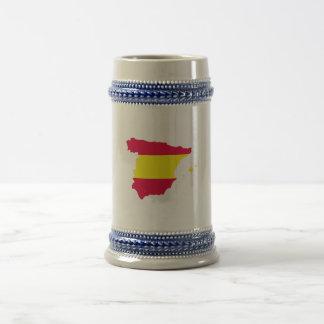 Spanien-Karten-Flagge Bierglas