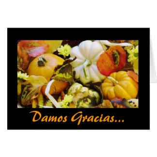 Spanisch: Danksagung Dar Gracias Grußkarte