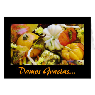 Spanisch: Danksagung Dar Gracias Karte