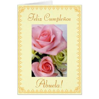 Spanisch: Der Geburtstag der Großmütter Grußkarte
