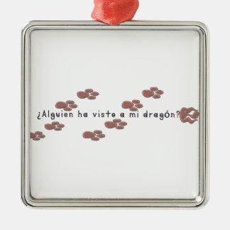 Spanisch-Drache Silbernes Ornament