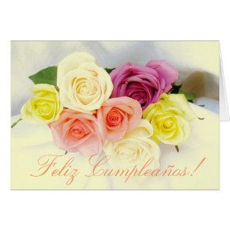 Spanisch: Geburtstag Cumpleanos Karte