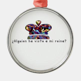 Spanisch-Königin Silbernes Ornament