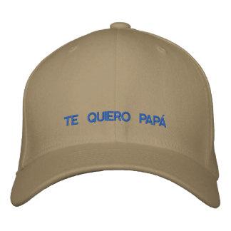 Spanisch Te Quiero Papa gestickte Kappe Bestickte Kappen
