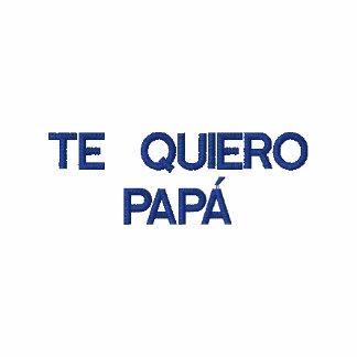 Spanisch Te Quiero Papa gesticktes Polo-Shirt Besticktes Polo Hemd
