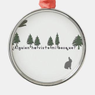 Spanisch-Wald Silbernes Ornament