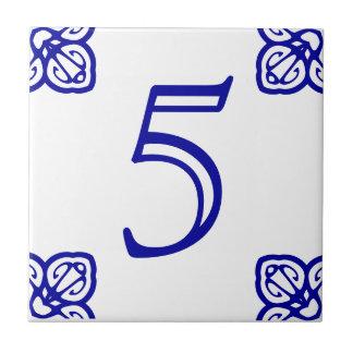 Spanische Hausnummer-Fliese Kleine Quadratische Fliese