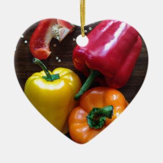 Spanische Pfeffer… Keramik Herz-Ornament