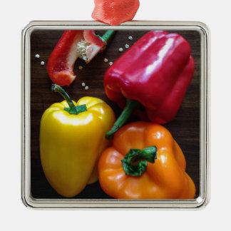 Spanische Pfeffer… Silbernes Ornament
