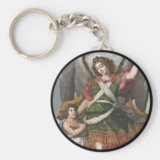 Spanischer Schutzengel und Kind Schlüsselanhänger