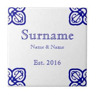 Spanisches Familienname-Zeichen Kleine Quadratische Fliese