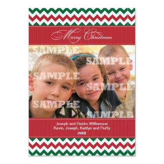 Sparren und Streifen-Weihnachtsgruß 11,4 X 15,9 Cm Einladungskarte