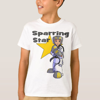 Sparring Stern-Taekwondo-schwarzer Gürtel T-Shirt