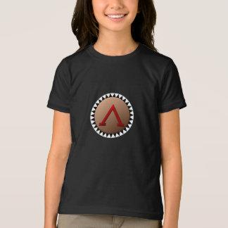 Spartanischer Schild-Mädchen-T - Shirt