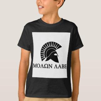 Spartanischer Sturzhelm Molon Labe T-Shirt