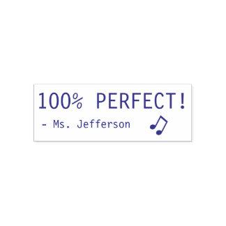 "Spaß ""100% PERFEKT!"" + Die NamensgummiBriefmarke Permastempel"