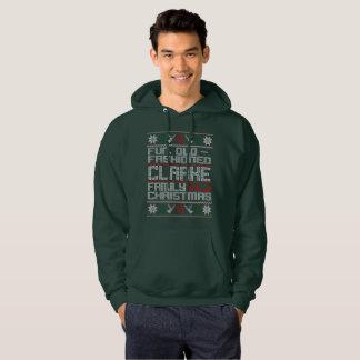 Spaß altmodisch, Clarke-Familien-Weihnachten Hoodie