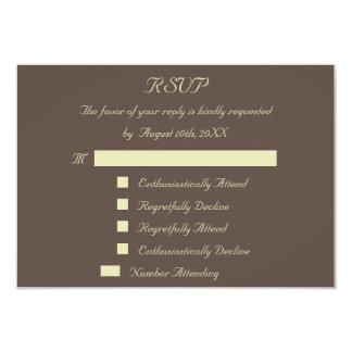 Spaß-Antwort-Wartekundenspezifische Hochzeit UAWG 8,9 X 12,7 Cm Einladungskarte
