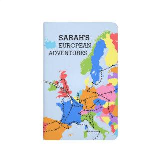 Spaß-bunte personalisierte europäische tagebücher