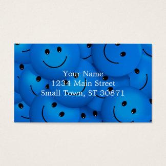 Spaß-coole glückliche blaue Smiley Visitenkarten