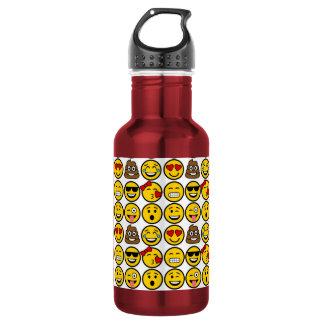 Spaß Emoji Muster-Gefühl-Gesichter Trinkflaschen