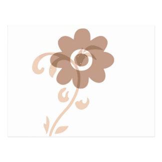 Spaß-erdige Blume Postkarte