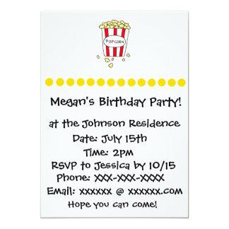 Spaß-Film-Theater-Popcorn-Geburtstags-Party laden Karte