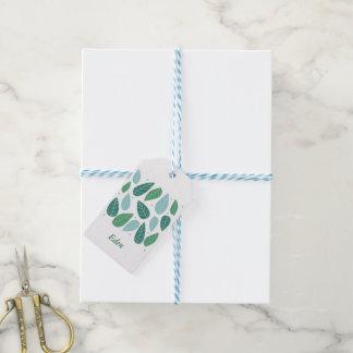 Spaß-Frühlings-Blätter Geschenkanhänger